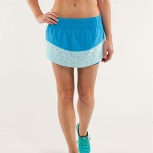 Lululemon Run Breeze By Skirt laser cut